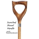 Scorched Shovel Handle Cane