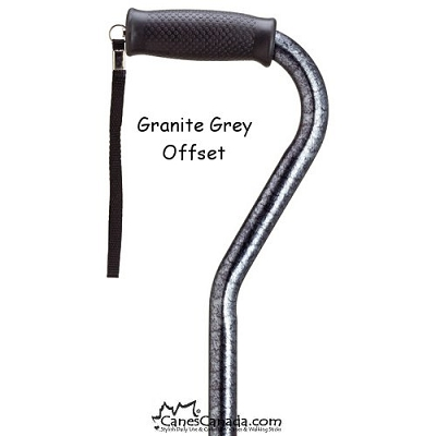 Granite Pattern Adjustable Offset Cane