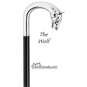 Alpacca Wolf Crook Walking Cane
