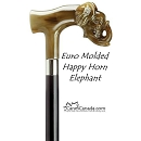 Italian Molded Happy Elephant Cane