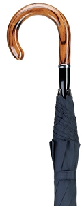 Crook Handle Cane Umbrella in black