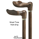 Wood Tone Palm Grip Cane