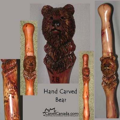 Hand Carved Hiking & Walking Sticks - Rocky Mtn Juniper