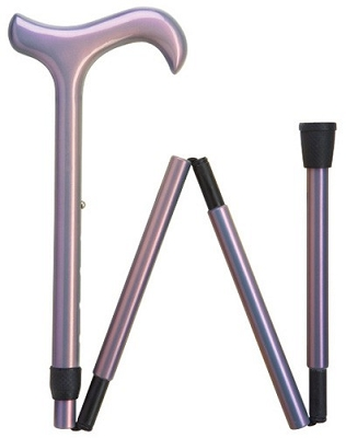 Ultra Light Carbon Fiber Folding Cane - Luminescent Lavender