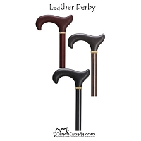 Touch of Leather Derby Walking Cane