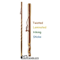 Twisted Laminated Hiking Sticks