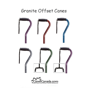 Granite Pattern Adjustable Offset Canes