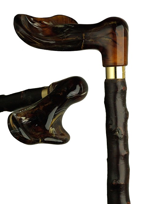 Black Beauty Palm Grip Cane - Blackthorn Shaft