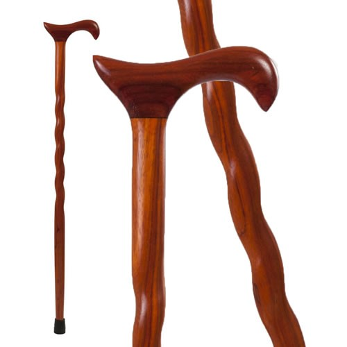 Twisted Padauk Derby Walking Cane