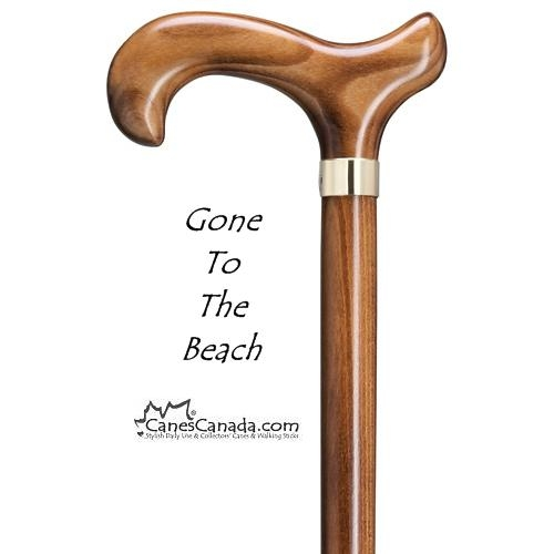 Gone To The Beach Scorched Derby Walking Cane
