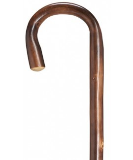 Knotted English Chestnut Crook Cane - Petite
