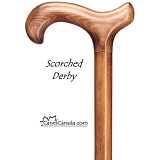 Scorched Derby Walking Cane