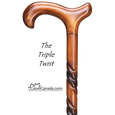 Triple Twist Derby Cane - Regular and Petite