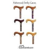 Patterned Derby Walking Canes