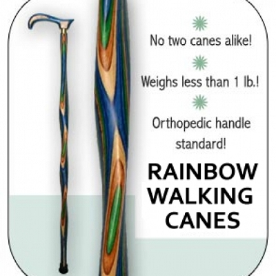 Rainbow Classic walking cane