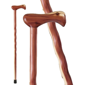 Twisted Laminated Aromatic Cedar Walking Cane