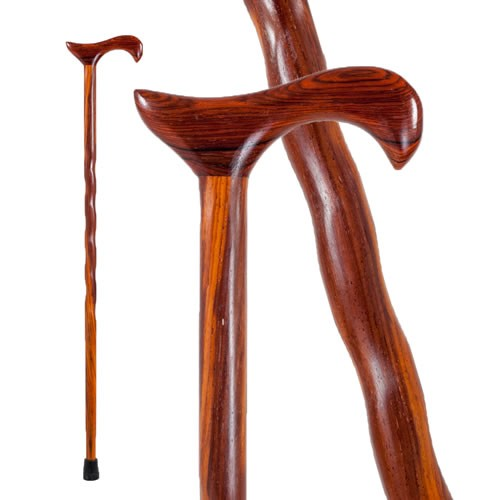 Twisted Cocobolo Derby Walking Cane