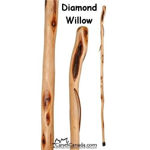 diamond willow walking stick
